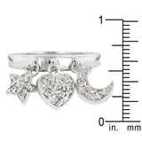 Triple Charm Ring - None
