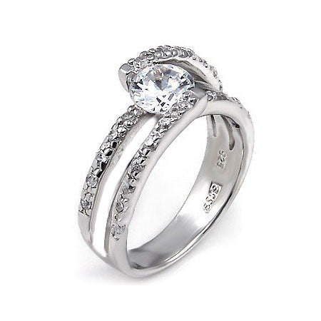 Zoey's Double Diamond CZ Banded Ring - None