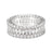 Triple Row Full CZ Eternity Band .925 sterling silver - Oval and Round