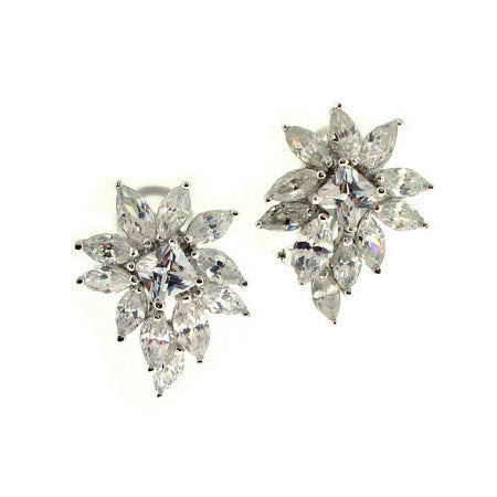 Abagail's Fine Diamond CZ Cluster Earrings - None