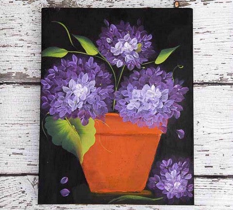 Beautiful hydrangeas painting