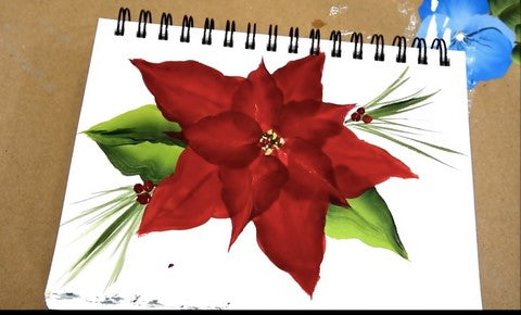 Simple poinsettia flower painting
