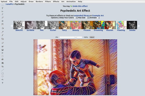 Choosing the psychedelic effect
