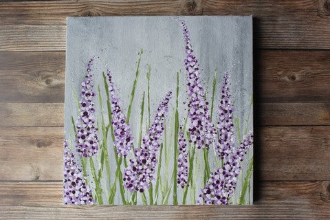 Lavender Cotton swabs painting
