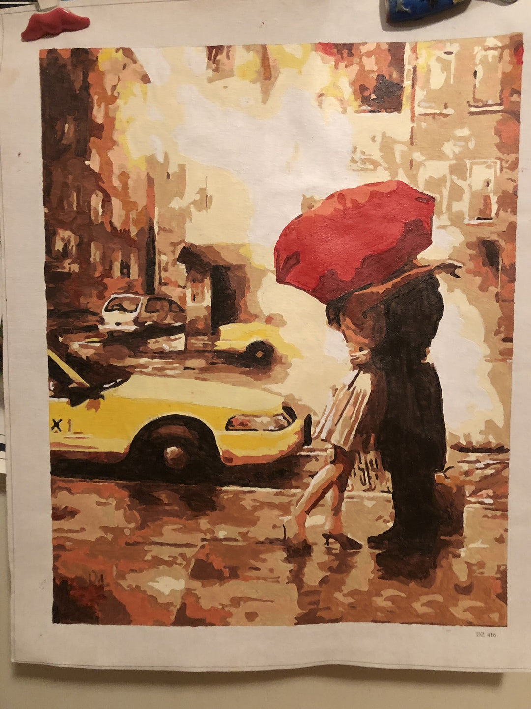 The Red Umbrella - Paint by Numbers for Adults