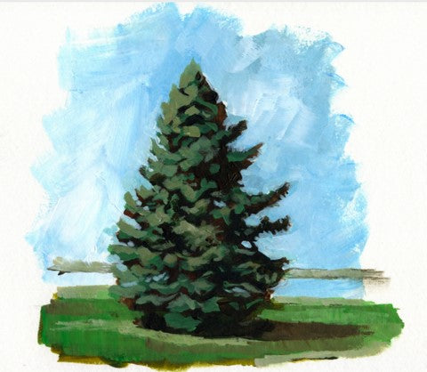 Painting an easy pine tree