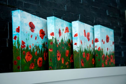 Easy flower paintings