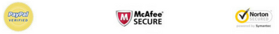 100% Safe & Secure Checkout