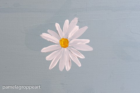 Simple Daisies painting