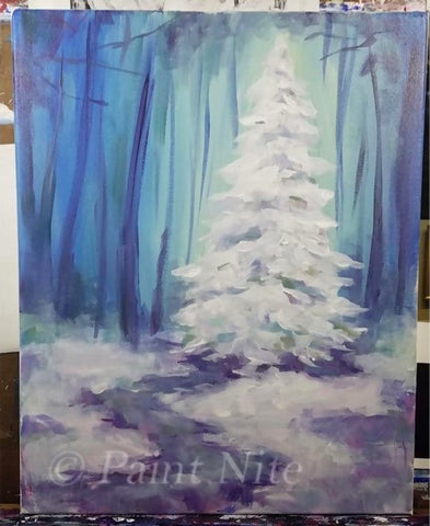 How to paint white fir trees