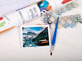 What composes a paint by numbers kit
