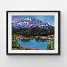 Painting By Number Mountains in a National Park