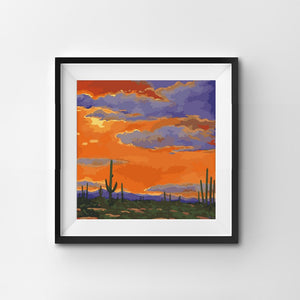 Painting By Number Sun Setting in the West