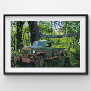 Painting By Number Power Wagon parked in the wild