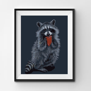 Painting By Number Wild Raccoon wants to give a heart