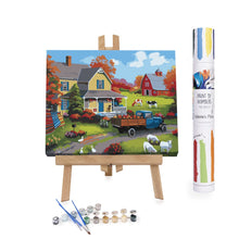 Farm with animals paint by numbers