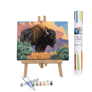 Bison in Yellowstone paint by numbers
