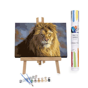 Lion King portrait paint by numbers