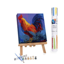 Colorful Cock Portrait paint by numbers