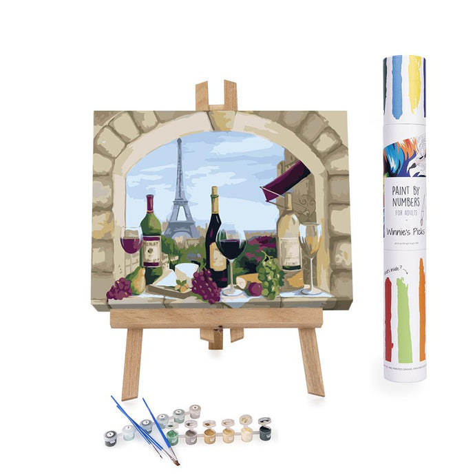Wine degustation in Paris paint by numbers