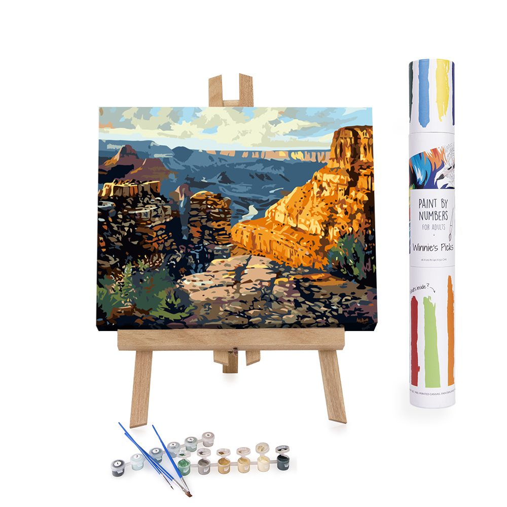 American orange canyon paint by numbers