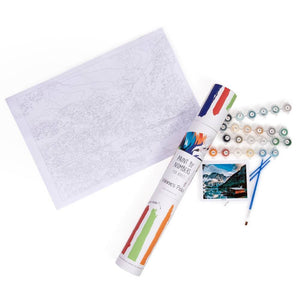 Paint by number kit for adults