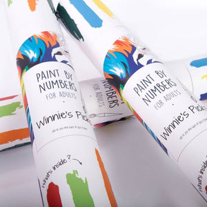 Winnie's Picks adults paint by numbers packaging