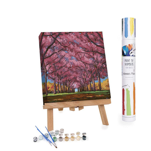 Paint By Numbers Adults Cherry Trees On the Lane