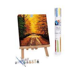 Paint By Numbers Adults Colorful Trees in Autumn