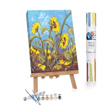 Paint By Numbers Adults Sunflowers Sun Field Blue Sky