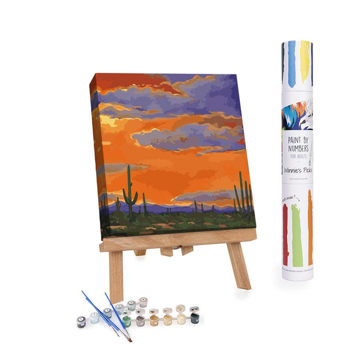 Paint By Numbers Adults Sunset in the Desert