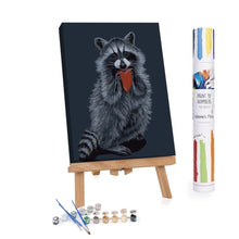 Paint By Numbers Adults Raccoon holding a heart