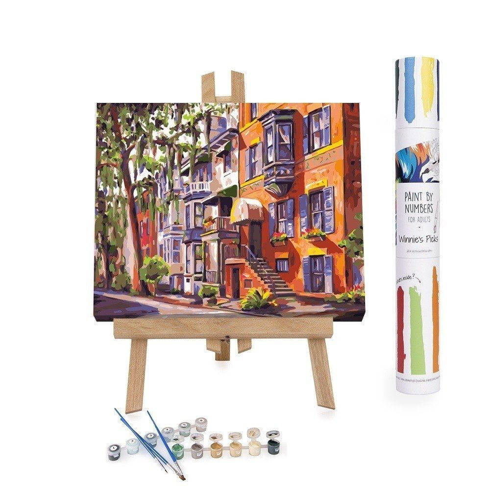 Paint By Numbers Adults Facade House Oak Tree