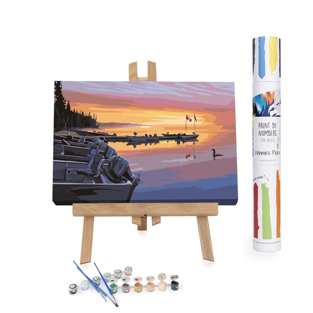 Paint By Numbers adults Sunset in Manotak Canada