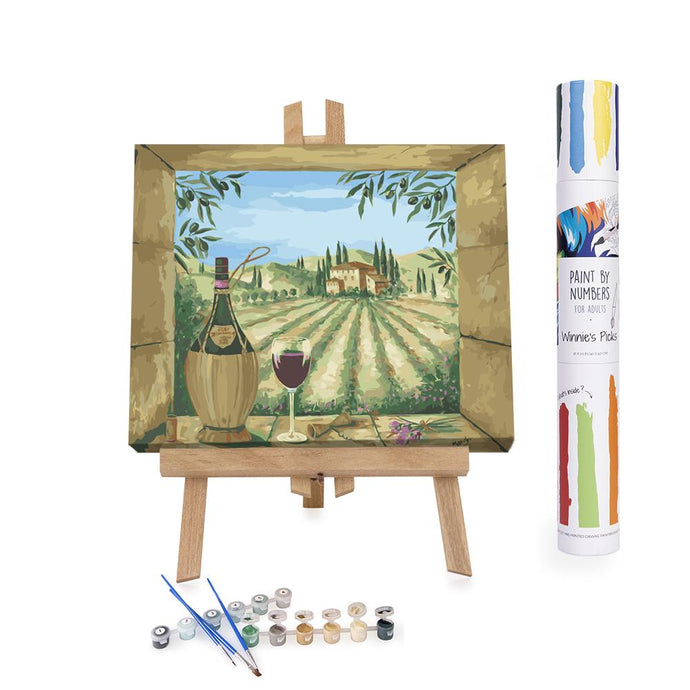 Paint By Numbers Adults Vineyard in Italy