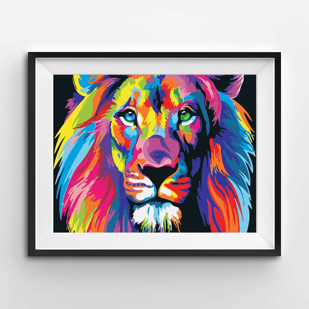 Abstract Colorful Lion | Adults' Paint by Numbers