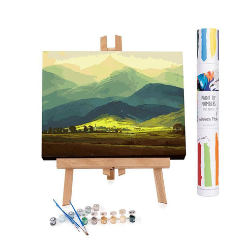 Easy painting of a Scottish landscape
