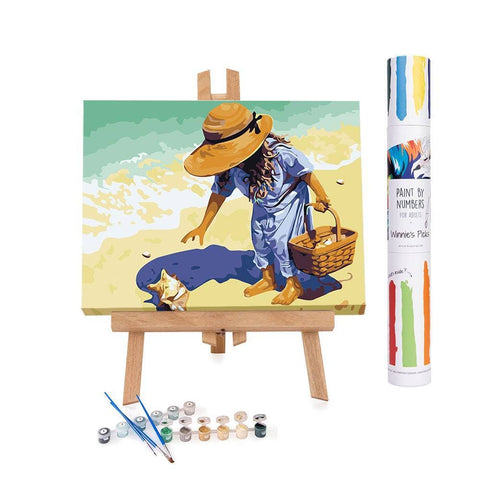 How to paint a little girl on the beach