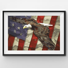 eagle flying on united states flag painting by numbers
