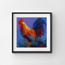Rooster realistic close-up painting by numbers