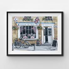 Engish tearoom storefront painting by numbers