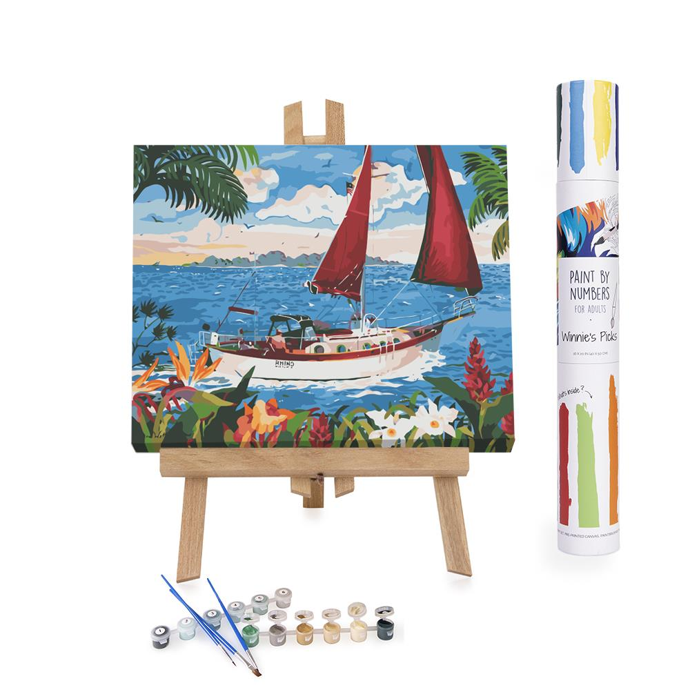 Paint By Numbers Adults boat