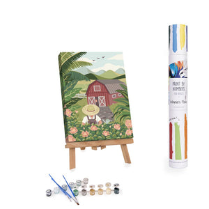 farm and flowers paint by numbers