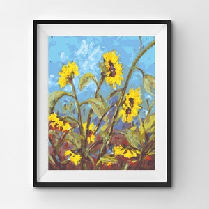 Painting By Number Flower Sun Landscape Summer