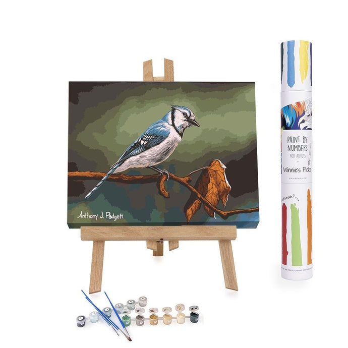 Paint By Numbers Adults Blue Bird On A Tree