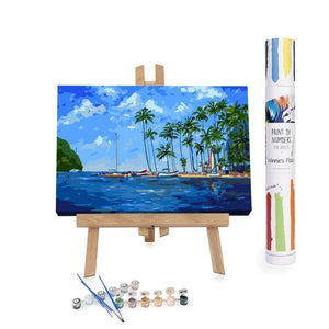 Paint By Numbers Adults Sea Sun Sand Palm Trees