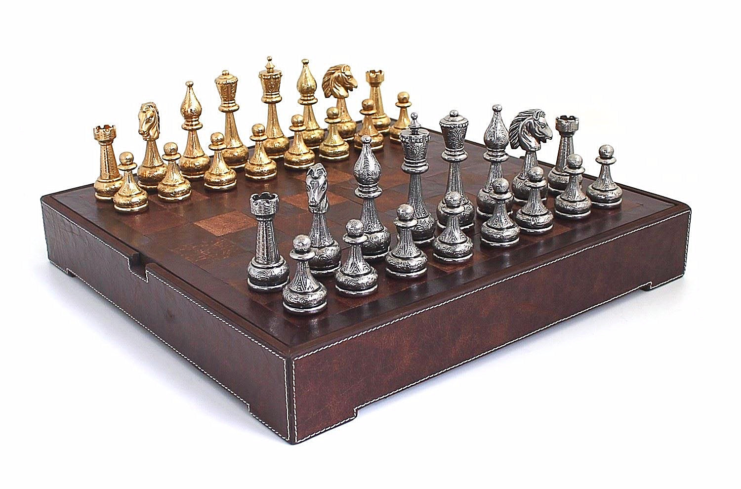 ensemble complet flowered echiquier et jeu d 39 echecs en. Black Bedroom Furniture Sets. Home Design Ideas