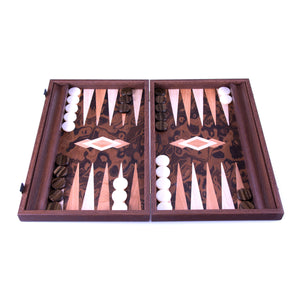 Backgammon en Racine de Noyer de Californie