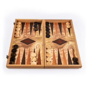 Backgammon en Bois d'Olivier