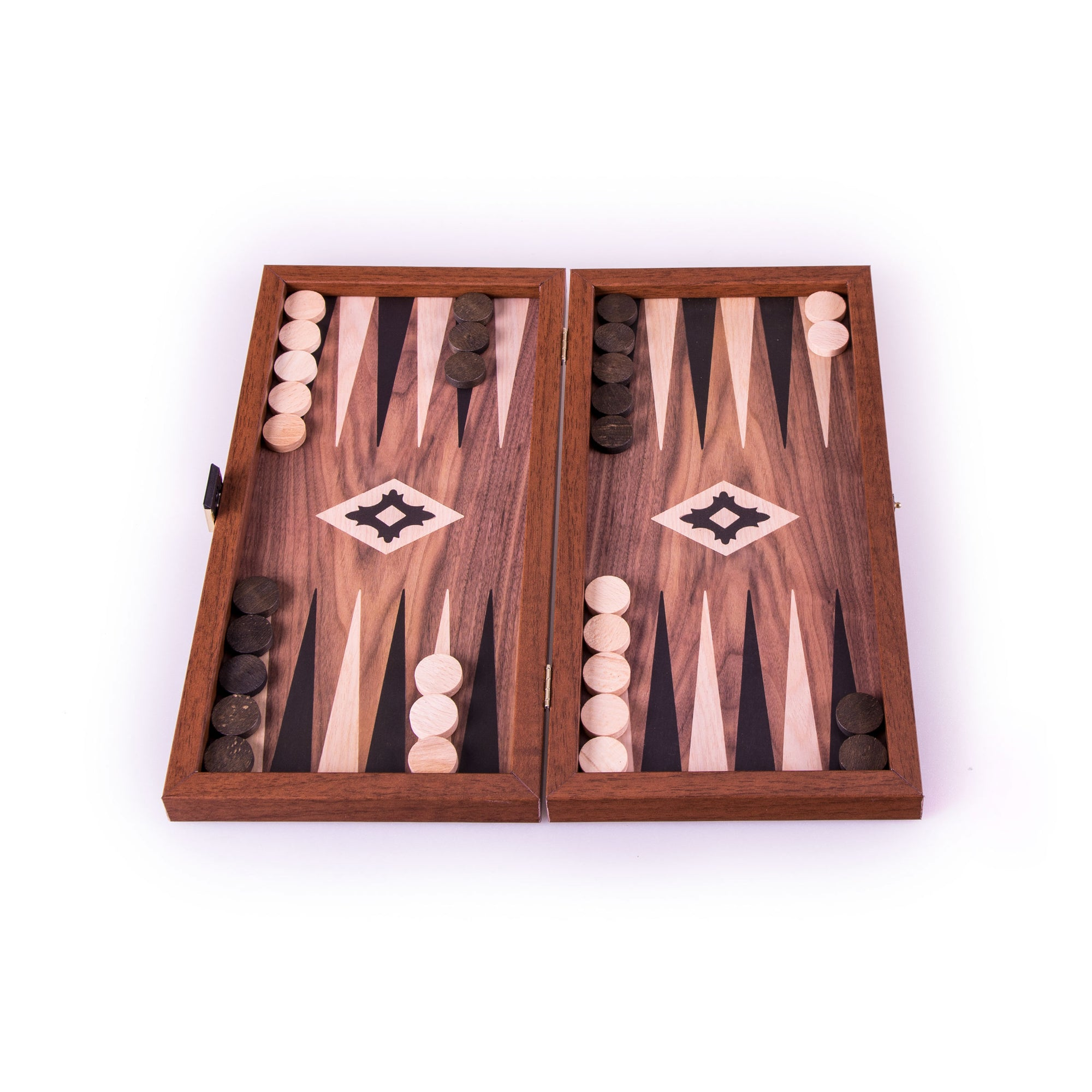 Backgammon Bois stratifié Noyer